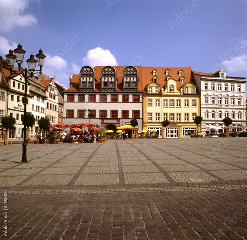 Foto op Plexiglas Caraïben Marktplatz von Naumburg, Thüringen
