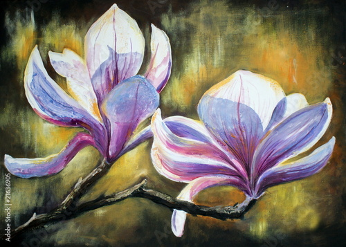 Magnolia flowersMy own artwork