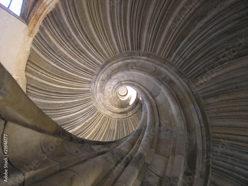 Poster Spirale Sprial Staircase in Hartenfels Castle Torgau