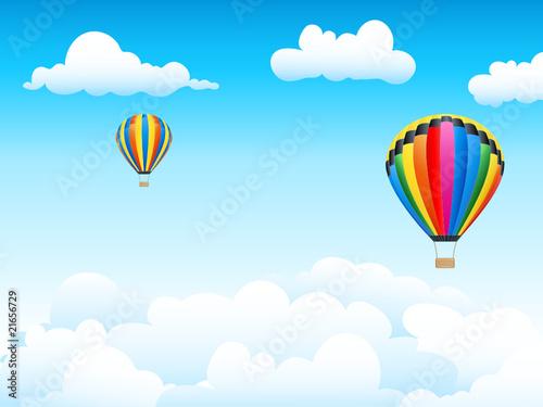 Papiers peints Ciel Heißluftballons hoch im Himmel