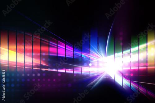 Keuken foto achterwand Fractal waves Rainbow Graphic Equalizer