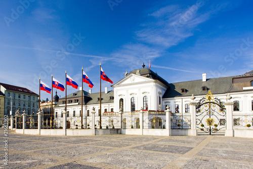 Photo  Presidential seat in Grassalkovich Palace, Bratislava, Slovakia