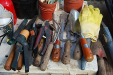 Pile Of Small Gardening Tools ...