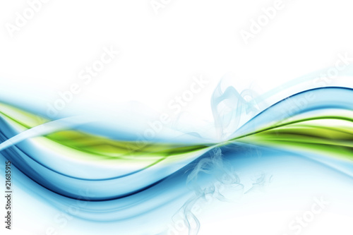 Poster Fractal waves Abstract background with smoke
