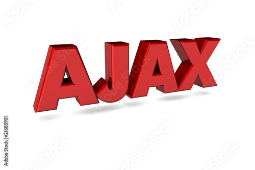 AJAX 3d rot Canvas Print