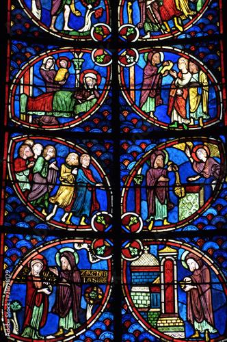 In de dag Stained France, vitraux de la cathédrale de Bourges