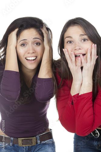 Fotografie, Obraz  deux femmes en admiration surprise