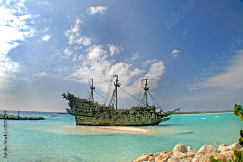 Canvas Prints Ship Caribbean Pirate Ship