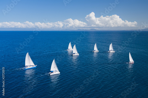 Fotografia, Obraz Regatta in indian ocean