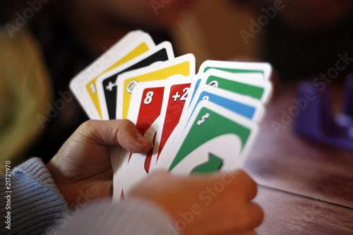 Canvas Print jouer au cartes