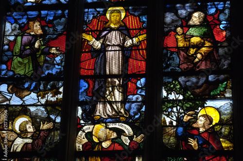 Poster France, vitraux de l'église Saint Martin de Triel
