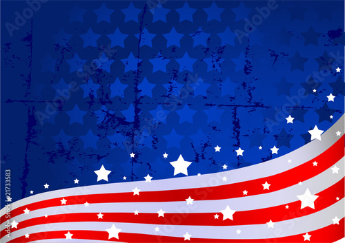 Printed kitchen splashbacks Fairytale World American flag background