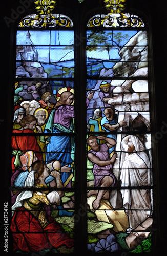 Poster Stained France, vitraux de l'église Saint Martin de Triel