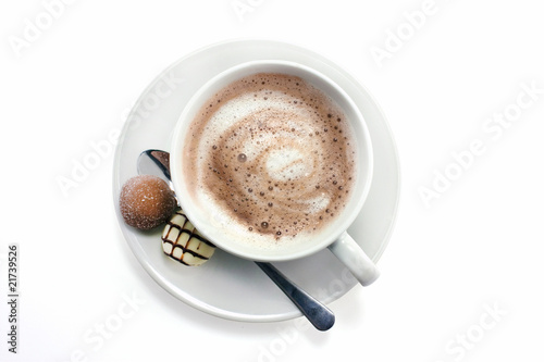 Foto op Canvas Chocolade hot chocolate and truffles