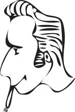 Cartoon Rockabilly Hairstyle W...