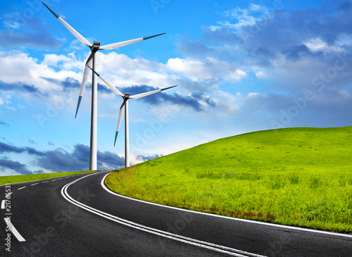 Poster Molens Wind road