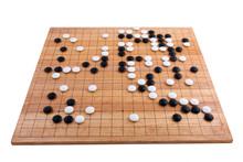 Japanese Go Board In White Bac...