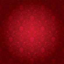 Red Seamless Ornate Pattern