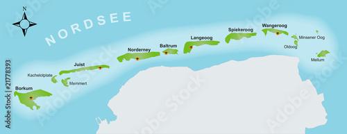 Nordfriesische Inseln Karte.Karte Ostfriesische Inseln Buy This Stock Vector And
