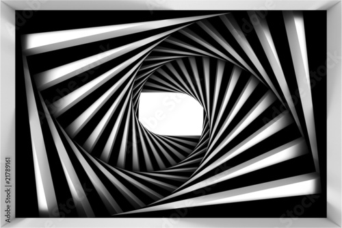 Fototapeta premium Czarno-biała spirala