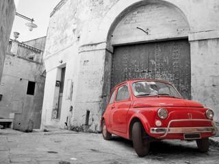fototapeta auto czerwony klasyk
