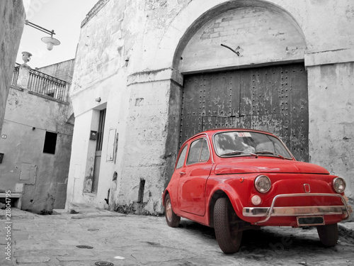 Fototapeta Red Classic Car