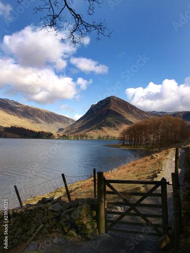 Spoed Foto op Canvas Blauwe hemel Lakeland view England