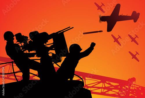 Fototapeta Attack on Pearl Harbor