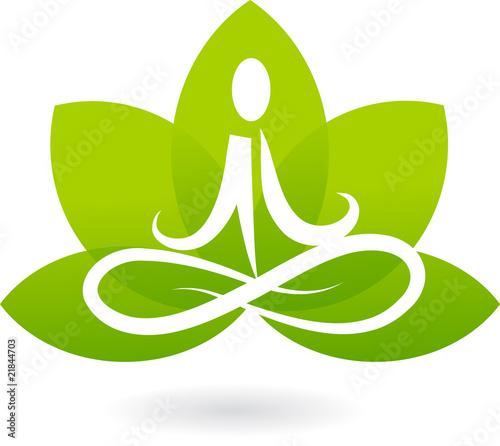 Photographie  Yoga lotus icon / logo