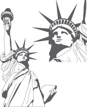 Statue Of Liberty In Very High Detail In Vector Art