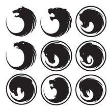 Animals Buttons Set
