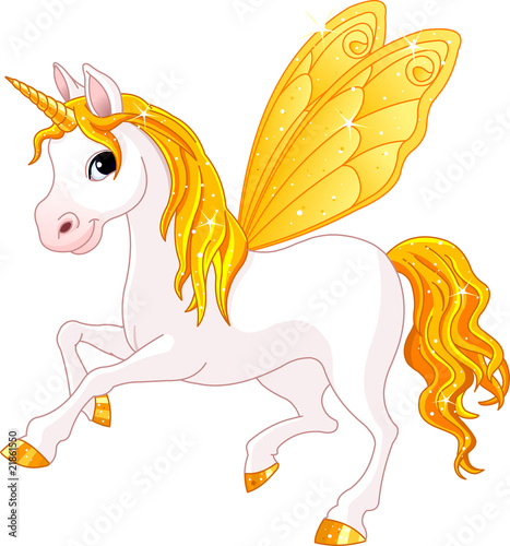 Poster Pony Fairy Tail Yellow Horse