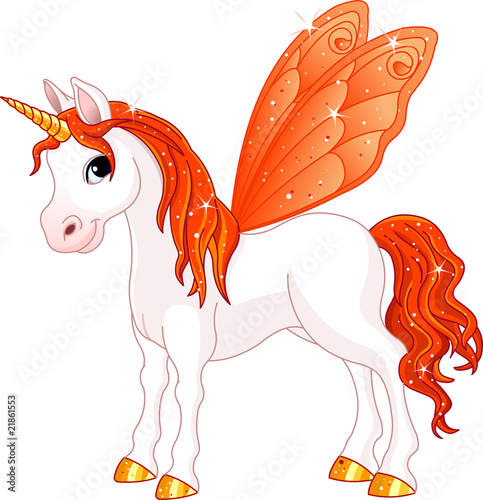 Poster Pony Fairy Tail Orange Horse