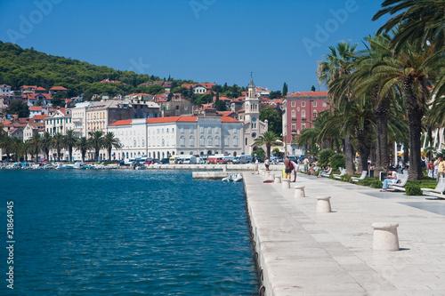 Garden Poster Nice Split city view, Croatia