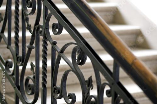 Carta da parati forged handrail