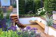Leinwandbild Motiv Seats in garden