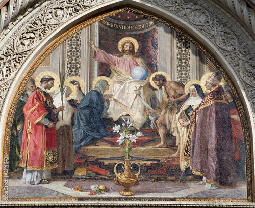 Poster Tunesië Jesus Christ pantokrator - Florence cathedral