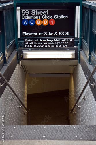 Photo  Entrance to New York metro