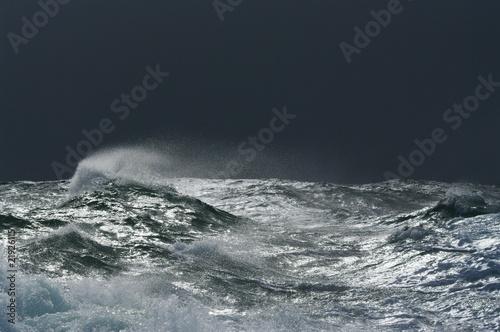 Staande foto Onweer tempête sur le raz de Sein