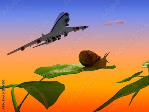 Papiers peints Avion, ballon The plane