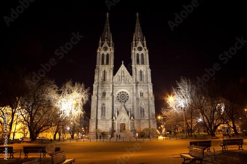 Praga - Chiesa di Santa Ludmilla Tableau sur Toile