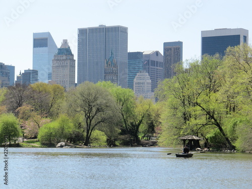 Central Park Lake and Rowing Boat
