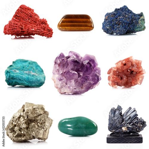 collezione di minerali Canvas Print