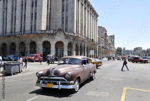 Deurstickers Cubaanse oldtimers Cuba heute