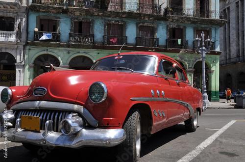 Türaufkleber Autos aus Kuba Cuba in rot