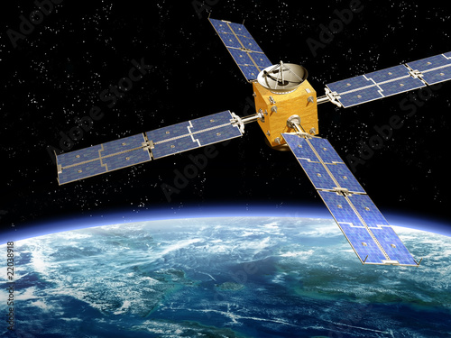 Photo  Orbiting Satellite
