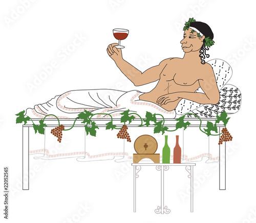bacchus illustration Canvas Print