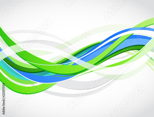 Staande foto Fractal waves Abstract colour background