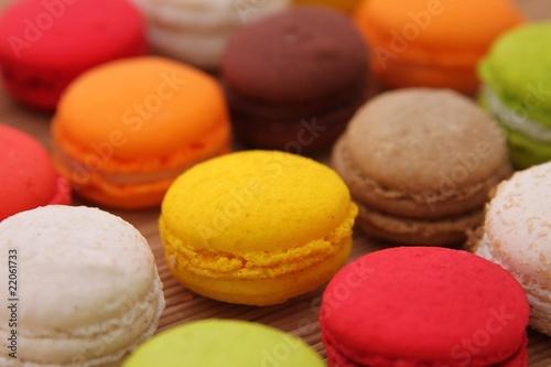 Foto op Canvas Macarons Macarons multicolores