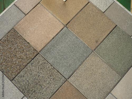 Fototapety, obrazy: cast stone and floor tile samples